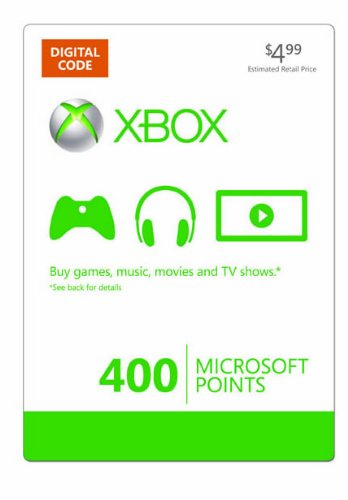 Xbox Live 400 Microsoft Points [online Game Code] Picture
