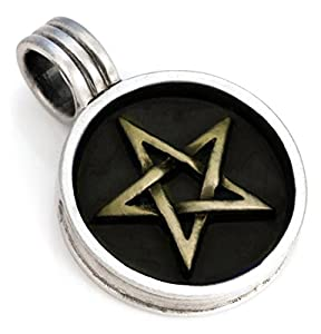 Amazon.com: Bico Pentagram Pendant (B11 Black) - wards off evil, white