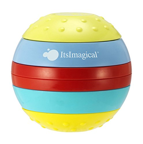 itsImagical 87948 Zig-Zag Rainbow Stimulating Ball with Lights and Sound