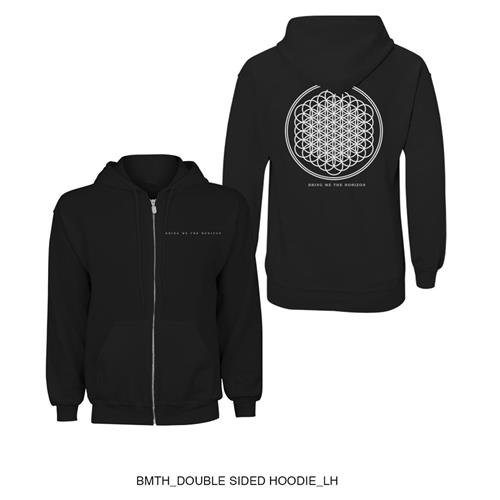 Bring Me The Horizon - Flower Of Life, Felpa da uomo, nero (black), XL