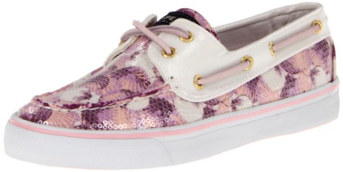 Sperry Women's Bahama 2-Eye, Grape Shells/White -5.5