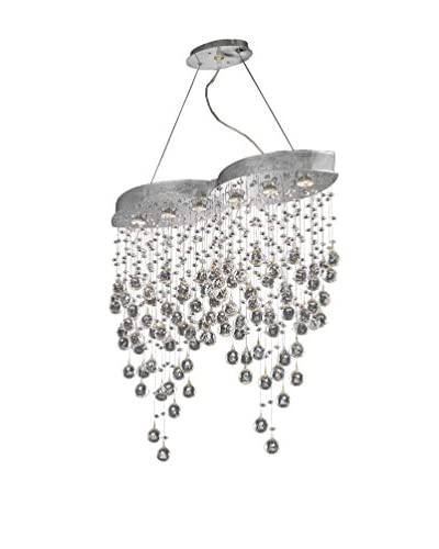 Crystal Lighting Galaxy Collection Double 6-Light Hanging Fixture, Chrome