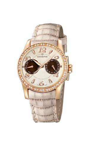 Candino Women's Quartz Watch with Beige Dial Analogue Display and Beige Leather Strap C4448/5