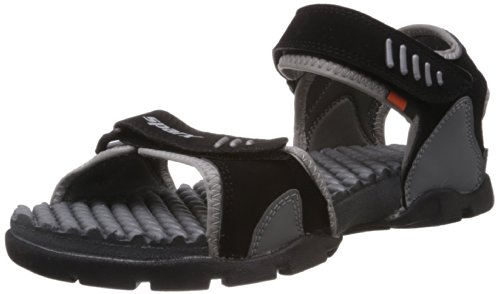 Sparx-Mens-Black-and-Grey-Sandals-and-Floaters-9-UK