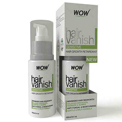 WOW Hair Vanish for Sensitive Skin - 100ml / 3.4oz - Hair Removal For Sensitive Areas Like Bikini Area (No No Laser Hair Removal compare prices)