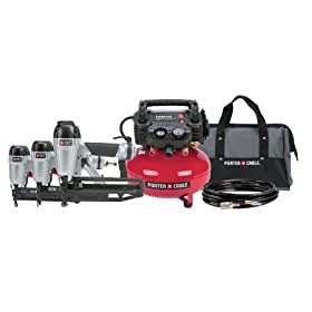 Porter Cable PC3Pak Finish Nailer/Brad Nailer/Stapler Compressor Combo Kit