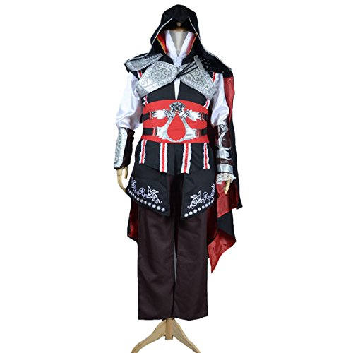 Angelaicos Mens Halloween Dress up Costume Clothing Suit Cloak Black Custom Made