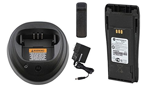 MOTOROLA OEM WPLN4138 Charger w/ NNTN4497CR w/ Belt Clip LI-ION High Capacity Battery Original Motorola Battery NNTN4497 NNTN4497BR (Ep 450 Charger compare prices)