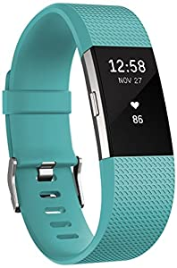 Fitbit Charge 2 Heart Rate and Fitness Wrist Band, teal, Small
