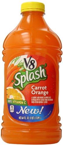V8 Splash Juice, Carrot Orange, 64 Ounce (Pack Of 8)
