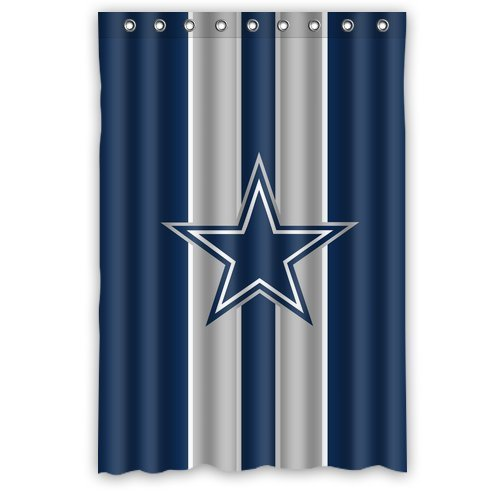Custom NFL Dallas Cowboys Stripes Waterproof Polyester Shower Curtain 48x72