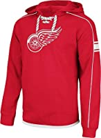 NHL Reebok Detroit Red Wings Faceoff Team Jersey Pullover Hoodie - Red