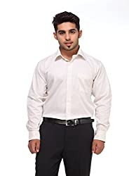 GIVO Classic Off white Solid Formal Shirt