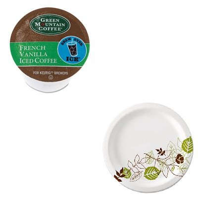 Kitdxeux9Wspkgmt6832 - Value Kit - Green Mountain Coffee Roasters Brew Over Ice French Vanilla Iced Coffee K-Cups (Gmt6832) And Dixie Pathways Mediumweight Paper Plates (Dxeux9Wspk)