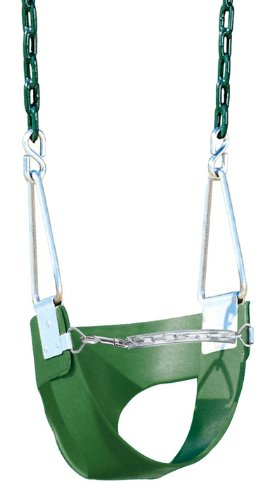 Playtime Swing Sets Playtime Swing Sets Half Bucket Swing -, Green, Chain front-1054896