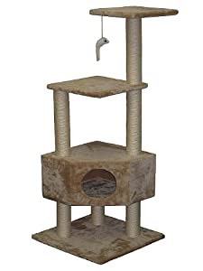 Go Pet Club Cat Tree Beige Color