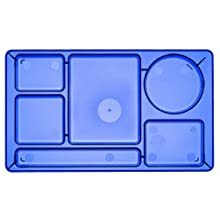 Camwear Polycarbonate 2 by 2 School Compartment Tray, Translucent Blue