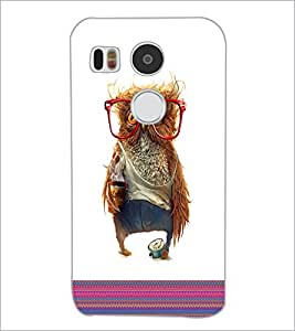 PrintDhaba Owl D-3316 Back Case Cover for LG NEXUS 5X (Multi-Coloured)