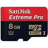 SDSDQXP-008G-X46 SanDisk Extreme Pro 8GB MicroSDHC UHS-1 Flash Memory Card