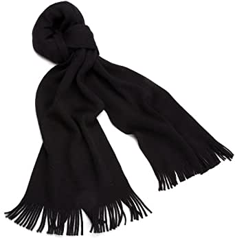 HUGO BOSS Men's Basic Albas Scarf, Black, One Size