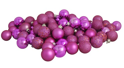 Vickerman Ball Ornament, 80mm, Pink
