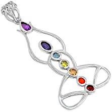 "buy Xtremegems Buddha Yoga Meditation Healing Chakra 925 Sterling Silver Pendant Jewelry 2"" Cp236"