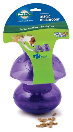 PetSafe Busy Buddy Magic Mushroom Meal Dispensing Dog Toy, Medium/Large