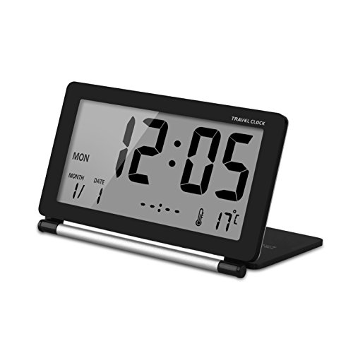 lcyyo mini portable ultrathin folding travel alarm clock. Black Bedroom Furniture Sets. Home Design Ideas