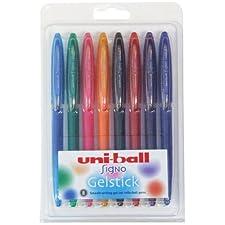 Uni-ball Signo - Bolígrafo de gel (8 unidades), , color es variados