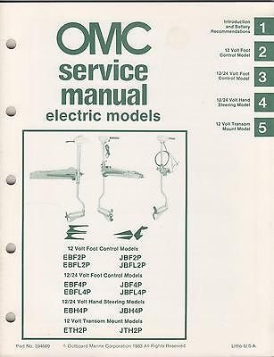 1984 Omc Outboard Service Manual For Electric Models