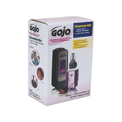 go-jo-institutional-8712-d1-gojo-700-ml-antibacterial-plum-foam-hand-wash-adx-7-dispenser-starter-ki