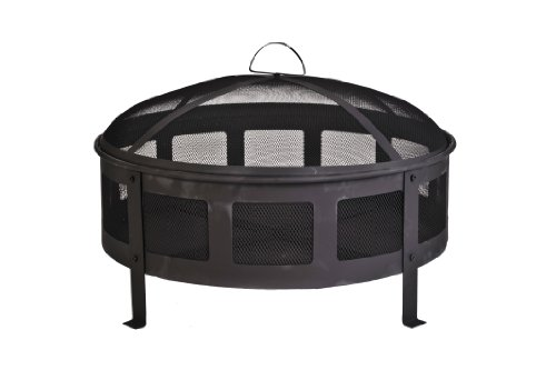 CobraCo FB6540 Round Bravo Fire Pit with Screen and Cover