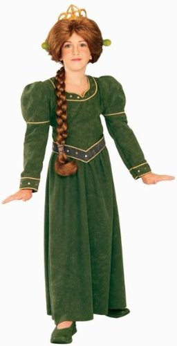 Fiona Deluxe Shrek Child Costume Small Clothes Size 46 (Princess Fiona Dress)