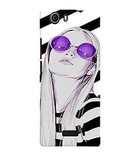 Fuson Trendy Girl Back Case Cover for MICROMAX CANVAS NITRO 2 E311 - D4041
