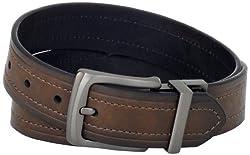 Levi's Men's Levis 40MM Reversible Belt With Gunmetal Buckle, Brown/Black, 32