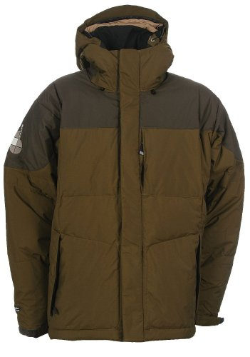 Buy Bonfire Fusion Strobe Snowboard Jacket Olive/Leather