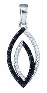 0.12CT BLACK DIAMOND FASHION PENDANT