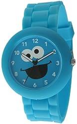 Sesame Street SW612CM Cookie Monster Blue Rubber Watch
