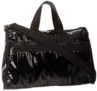 LeSportsac Medium Weekender (Black Patent)