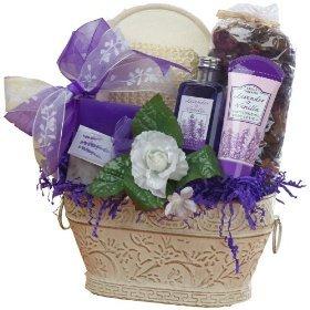 Art of Appreciation Gift Baskets Medium Lavender Renewal Spa, Bath and Body Set