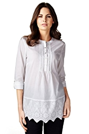 Per Una Pure Cotton Colette Embroidered Blouse