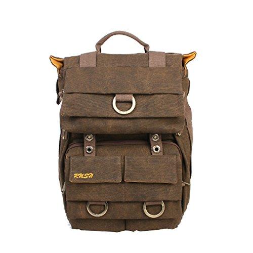 "Vktech Waterproof Canvas Dslr Slr Camera Laptop Backpack Bag Rucksack For Cannon Nikon Apple Asus Lenovo Support 15"" Max"
