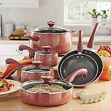 Paula Deen Signature Collection: 20 Piece Porcelain Nonstick Cookware Set