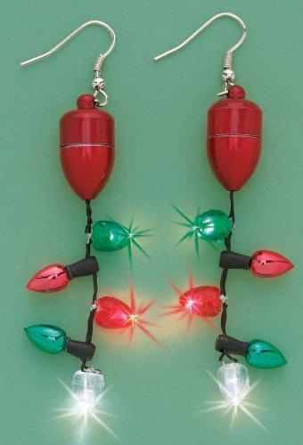Flashing Christmas Earrings by Miles Kimball
