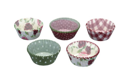 Kitchen Craft KCCCASST250GP Sweetly Does It - Juego de fundas para magdalenas y cupcakes (250 unidades, papel), diseño de estampados variados