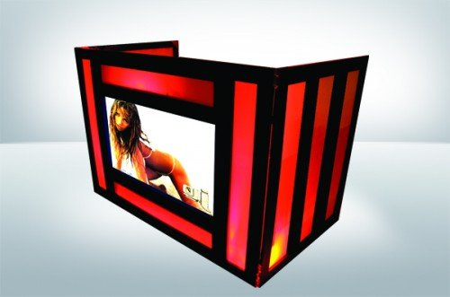 DJ Facade w/Plasma TV - Dragon Frontboards -