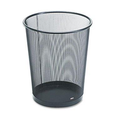 rolodex-mesh-round-wastebasket-11-1-2-diameter-x-14-1-4-h-black-22351-2-pack-by-rolodex