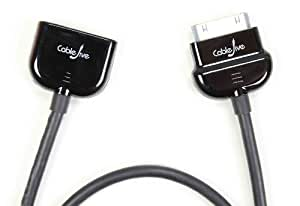 CableJive dockXtender Premium Dock Extender Cable for iPhone, iPod, iPad (2 foot black); Hold Your Phone in Your Hand While you Charge and Play Music. Compatible with all 30-Pin Audio Docks, Speaker Docks, Docking Stations, including Bose SoundDock, Logitech, iHome, JBL, Phillips, Sony and Others
