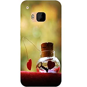 Casotec Love Prison Design Hard Back Case Cover for HTC One M9