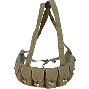 Chinese Military Bandoleer 7.62x39 10 Pocket Chest Pouch Rig Bandoleer Bandolier by china Army